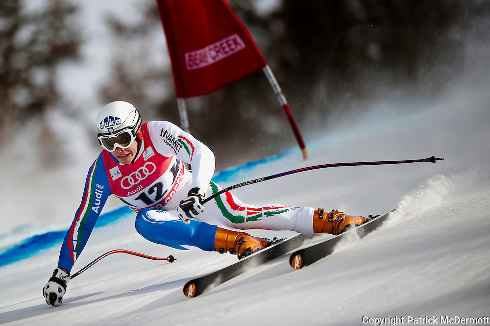 Chrsitof Innerhofer of Italy competes in the Men's Downhill on Birds of Prey course during the Audi FIS Birds of the Prey World Cup in Beaver Creek, Colo., on Dec. 5, 2009.