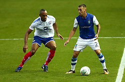 Jack Hunt of Sheffield Wednesday takes on Chris O'Grady of Chesterfield - Mandatory by-line: Robbie Stephenson/JMP - 08/08/2017 - FOOTBALL - Hillsborough - Sheffield, England - Sheffield Wednesday v Chesterfield - Carabao Cup