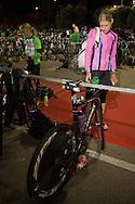 Tenille HOOGLAND (AUS) Prepares Transition In The Pre Dawn. Ironman Asia Pacific Championship Melbourne. Triathlon. Frankston And St Kilda, Melbourne, Victoria, Australia. 24/03/2013. Photo By Lucas Wroe