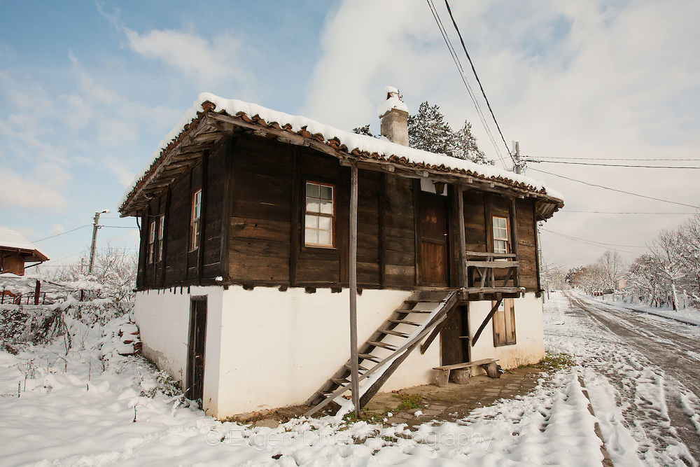 Village in Strandzha Mountain in winter