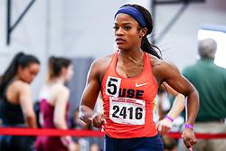 womens 400 heat 8, Cheyenne Trigg, Syracuse<br /> David Hemery Valentine Invitational<br /> Indoor Track & Field at Boston University