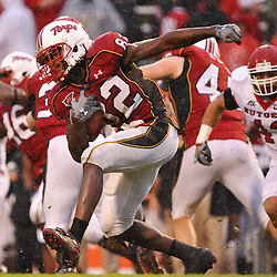 Sep 26, 2009; College Park, MD, USA; Maryland wide receiver Torrey Smith (82) returns a punt during  Rutgers' 34-13 victory over Maryland in NCAA college football at Byrd Stadium.