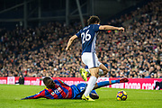 Crystal Palace #17 Christian Benteke, West Bromwich Albion (26) Ahmed Hegazi during the Premier League match between West Bromwich Albion and Crystal Palace at The Hawthorns, West Bromwich, England on 2 December 2017. Photo by Sebastian Frej.