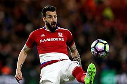 Alvaro Negredo of Middlesbrough controls the ball - Mandatory by-line: Robbie Stephenson/JMP - 26/04/2017 - FOOTBALL - Riverside Stadium - Middlesbrough, England - Middlesbrough v Sunderland - Premier League