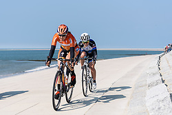 Romy Kasper and Emilie Moberg in the break - Energiewacht Tour 2016 - Stage 5 Borkum, Germany.