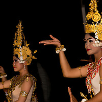 Dance of the Apsara Divinities or Robam Tep Apsara is a Khmer classical dance created by the Royal Ballet of Cambodia.  The dance was created in the mid-20th century under the patronage of Queen Sisowath Kossamak.