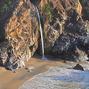 Waterfall And Sandy Cove - Pfeiffer State Beach Overlook