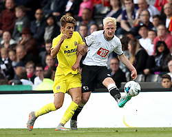 Derby County's Will Hughes gets a pass away - Mandatory by-line: Robbie Stephenson/JMP - 07966386802 - 29/07/2015 - SPORT - FOOTBALL - Derby,England - iPro Stadium - Derby County v Villarreal CF - Pre-Season Friendly