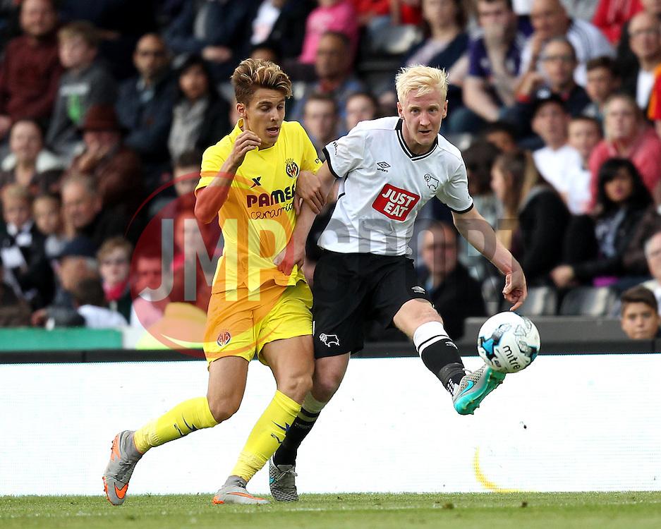 Derby County's Will Hughes gets a pass away - Mandatory by-line: Robbie Stephenson/JMP - 07966386802 - 29/07/2015 - SPORT - FOOTBALL - Derby,England - iPro Stadium - Derby County v Villarreal CF - Pre-Season Friendly