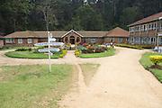 The entrance to Kisiizi Hospital, Uganda.