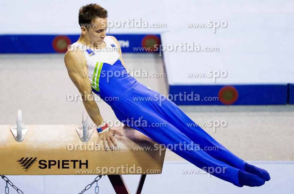 Saso Bertoncelj of Slovenia competes during Qualifications day of Artistic Gymnastics World Cup Ljubljana, on April 26, 2013, in Hala Tivoli, Ljubljana, Slovenia. (Photo By Vid Ponikvar / Sportida.com)