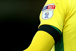 Norwich City wear black armbands in memory of former Footballer Ugo Ehiogu who passed away - Mandatory by-line: Robbie Stephenson/JMP - 21/04/2017 - FOOTBALL - Carrow Road - Norwich, England - Norwich City v Brighton and Hove Albion - Sky Bet Championship