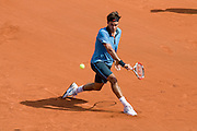 Paris, France. May 25th 2009. .Roland Garros - Tennis French Open. 1st Round..Swiss player Roger Federer against Alberto Martin.