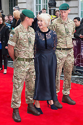 © Licensed to London News Pictures. 11/04/2016. arrives for European film premiere of Eye In The Sky. London, UK. Photo credit: LNP