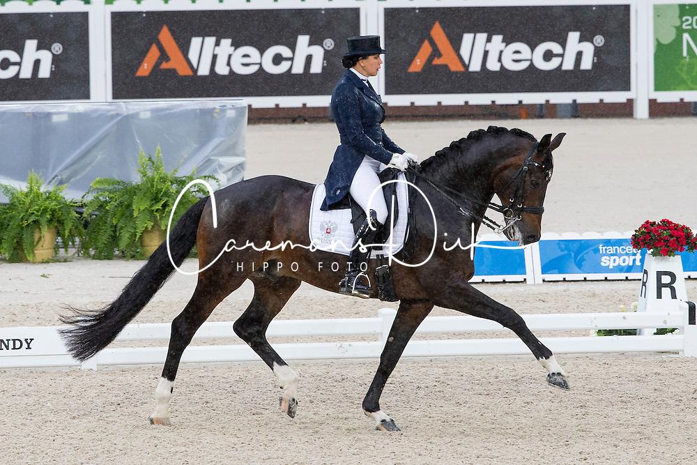 Inessa Merkulova, (RUS), Mister X - Grand Prix Team Competition Dressage - Alltech FEI World Equestrian Games&trade; 2014 - Normandy, France.<br /> &copy; Hippo Foto Team - Leanjo de Koster<br /> 25/06/14