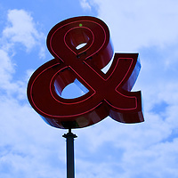 The ampersand sign, part of an outdoor sculpture at the Olympic sculputre park.