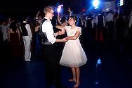 Senior Aric Harrison (left) and junior Rebecca Pearson on the dance floor during the Springboro High School prom at Springboro High School, Saturday, April 30, 2011.