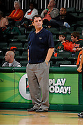 December 18, 2010: Head coach John Margaritis of the  California Riverside Highlanders in action during the NCAA basketball game between the Miami Hurricanes and the Highlanders. The 'Canes defeated the Highlanders 81-59.