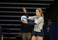Samford Volleyball Kelsi Hobbs (8) during the game against Alabama Sept. 7,2017 in Homewood, AL.  Mandatory Credit: Marvin Gentry