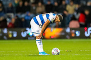 Queens Park Rangers forward Nahki Wells (21) looks devastated at full time during the EFL Sky Bet Championship match between Queens Park Rangers and Brentford at the Kiyan Prince Foundation Stadium, London, England on 28 October 2019.