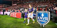 UTRECHT, FC Utrecht - VVSB, voetbal halve finale KNVB beker, seizoen 2015-2016, 2-3-2016, Stadion De Galgenwaard, spelers en arbitrale trio betreden het veld, .