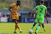 Cambridge United's David Amoo(7) during the EFL Sky Bet League 2 match between Forest Green Rovers and Cambridge United at the New Lawn, Forest Green, United Kingdom on 22 April 2019.