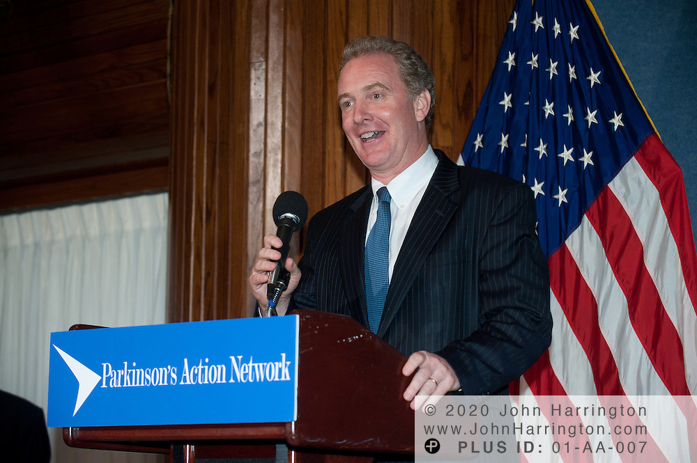 Representative Chris Van Hollen (D-MD) thanks the Parkinson's Action Network after receiving the Morris K. Udall Award for Public Service at the 2011 Morris K. Udall Awards Dinner at the National Press Club in Washington, DC on September 14th, 2011.