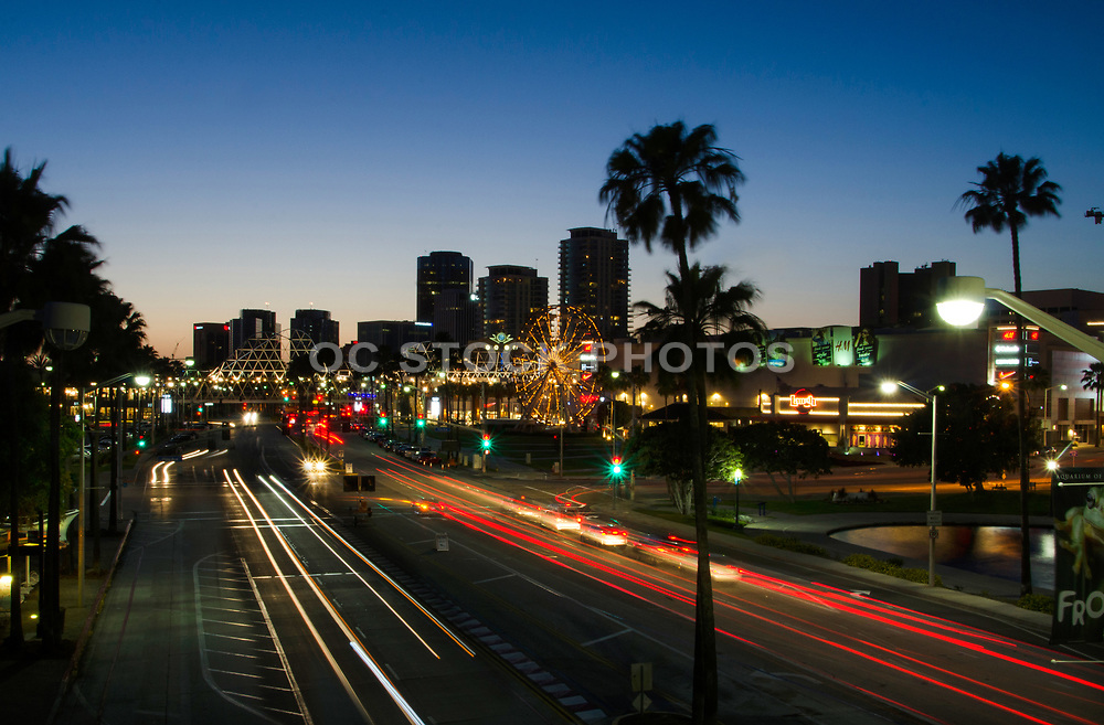 Downtown Long Beach at Dusk on Shoreline Dr.