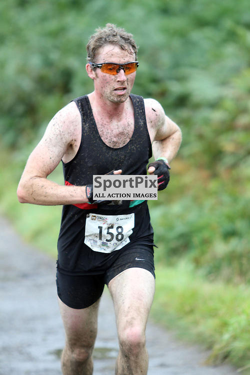 Greg Simpson perth the second  male overall heads for the finish line in  the Island of Kerrera as first part of the Craggy Island triathlon in its 2nd year with over 400 entrants the competition having to be spread over 2 days ..Kevin McGllynn(c)  | StockPix.eu
