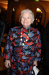 Writer P D JAMES at the 2004 Whitbread Book Awards held at The Brewery, Chiswell Street, London EC1 on 25th January 2005.<br /><br /><br />NON EXCLUSIVE - WORLD RIGHTS
