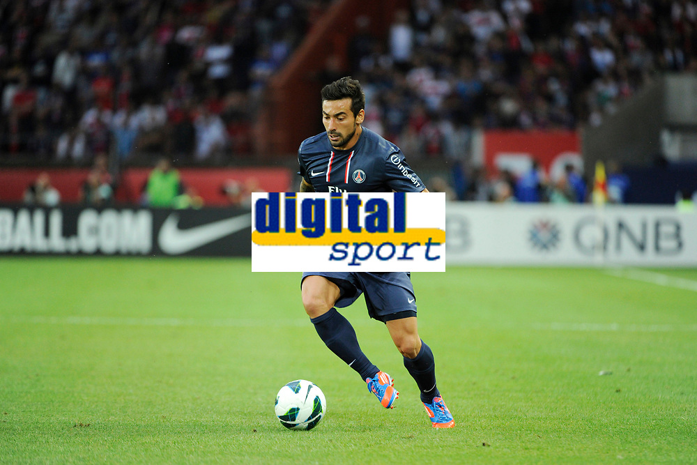 FOOTBALL - FRIENDLY GAMES 2012/2013 - TROPHEE DE PARIS - PARIS SAINT GERMAIN v FC BARCELONA - 04/08/2012 - PHOTO JEAN MARIE HERVIO / REGAMEDIA / DPPI - EZEQUIEL LAVEZZI (PSG)