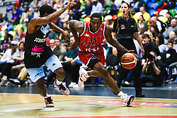 Fred Thomas of Bristol Flyers in action as Bristol Flyers play Surrey Sharks - Rogan/JMP - 14/10/2018 - BASKETBALL - Copper Box Arena - London, England - British Basketball All-Stars Championship 2018.