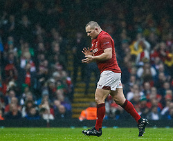 Ken Owens of Wales<br /> <br /> Photographer Simon King/Replay Images<br /> <br /> Six Nations Round 5 - Wales v Ireland - Saturday 16th March 2019 - Principality Stadium - Cardiff<br /> <br /> World Copyright © Replay Images . All rights reserved. info@replayimages.co.uk - http://replayimages.co.uk