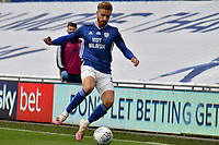 Football - 2019 / 2020 Championship - Play-off semi-final - 1st leg - Cardiff City vs Fulham<br /> <br /> Joe Bennett of Cardiff City on the attack						<br /> in a match played with no crowd due to Covid 19 coronavirus emergency regulations, in an almost empty ground, at the Cardiff City Stadium<br /> <br /> COLORSPORT/WINSTON BYNORTH