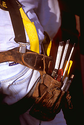 Stock photo of a construction worker's belt