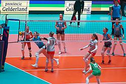 09–01-2020 NED: Olympic qualification tournament women, Apeldoorn<br /> Bulgaria - Azerbaijan / Maryia Kiryliuk #22 of Azerbaijan