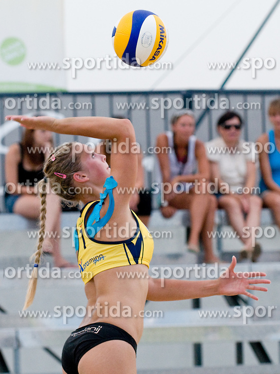 Ana Kalisnik at Beachmaster 2010 tournament for Slovenian BeachTour on July 15, 2010, in Ptuj, Slovenia. (Photo by Matic Klansek Velej / Sportida)