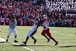 14 October 2006: James Temple catches up with Arkee Whitlock. The 6th largest crowd at Hancock Stadium came to watch a game that put 8th ranked Southern Illinois Salukis against 5th ranked Illinois State University Redbirds.  The Redbirds stole the show for a Homecoming win by a score of 37 - 10. Competition commenced at Hancock Stadium on the campus of Illinois State University in Normal Illinois.<br />