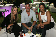 Caylin McKie, Brent Lindeque and Sipokazi Sokanyke during the CLT20 live broadcast party held at the Supersport Studios in Johannesburg on the 8 September held as part of the build up to the Champions League T20 tournament being held in South Africa between the 10th and 26th September 2010..Photo by: Ron Gaunt/SPORTZPICS/CLT20