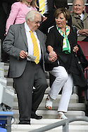 Norwich City's Joint Majority Shareholder Delia Smith with her husband Michael Wynn Jones before the Barclays Premier League match at the DW Stadium, Wigan...Picture by Paul Chesterton/Focus Images Ltd. .07904 640267.13/8/11