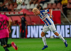 "Lucas Woudenberg #5 of Heerenveen in action. FC Utrecht convincingly won the practice match against sc Heerenveen. The ""Domstedelingen"" were too strong for SC Heerenveen in Stadium Galgenwaard with 4-1<br /> on August 20, 2020 in Utrecht, Netherlands"