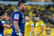 Waisake Naholo during the super rugby union  game between Hurricanes  and Highlanders, played at Westpac Stadium, Wellington, New Zealand on 24 March 2018.  Hurricanes won 29-12.