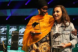 12.04.2019, Europa Park, Rust, GER, Radio Regenbogen Award 2019, im Bild Sonderpreis 2018, Fatuma Musa Afrah und Künstlerin National 2018, Namika // during the Radio Rainbow Award at the Europa Park in Rust, Germany on 2019/04/12. EXPA Pictures © 2019, PhotoCredit: EXPA/ Eibner-Pressefoto/ Joachim Hahne<br /> <br /> *****ATTENTION - OUT of GER*****