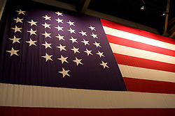 Replica of the 33 starred American Flag that flew during Union occupation of Fort Sumter, Fort Sumter National Monument, Charleston, SC,  December 31, 2007.