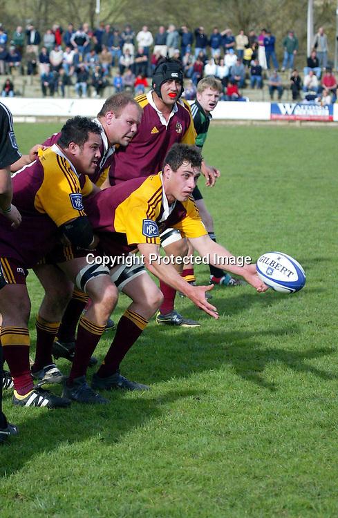 30 August 2003, NPC Third Division, South Canterbury vs King Country, Te Kuiti, New Zealand.<br />Mark Morunga.<br />Pic: Andrew Cornaga/Photosport