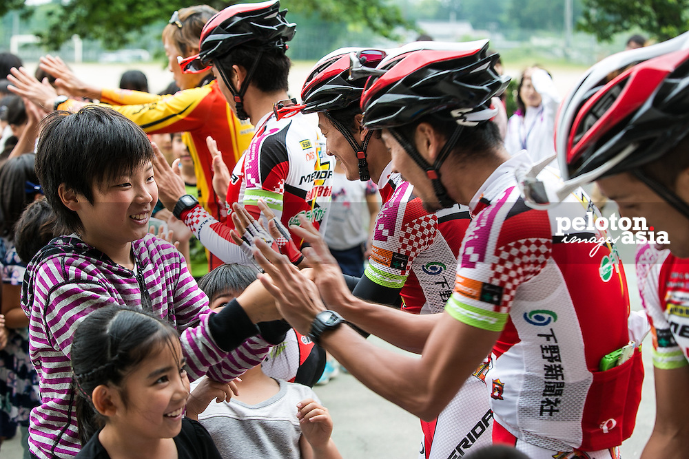 Tour of Japan 2015/ Cycling School for kids/ Inabe/  Wieler School/ Mr. Blacky Nakajima