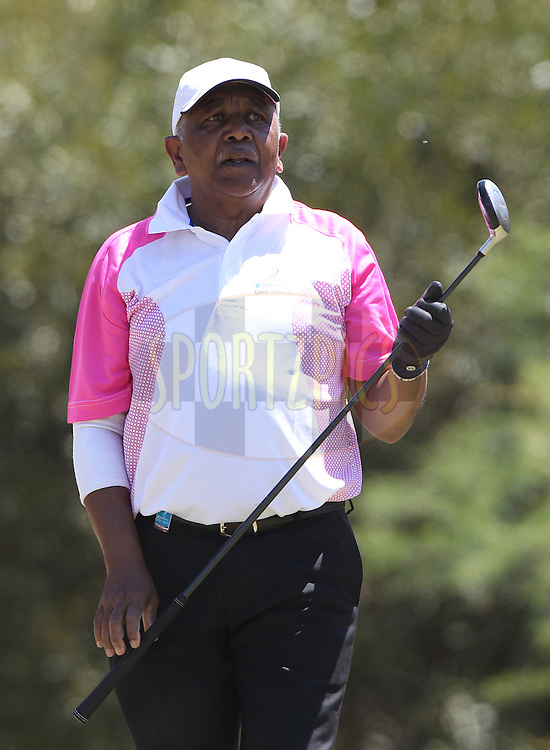 Danny Marimuthu during round one of the Sanlam Cancer Challenge Finals 2014 held at the Lost City Golf Course in Sun City near Johannesburg, South Africa on the 19th October 2014<br /> <br /> Photo by:  Luke Walker/ SPORTZPICS