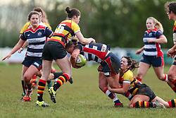 Izzy Noel Smith of Bristol Ladies in action - Rogan Thomson/JMP - 15/01/2017 - RUGBY UNION - Cleve RFC - Bristol, England - Bristol Ladies Rugby v Richmond WRFC - RFU Women's Premiership.