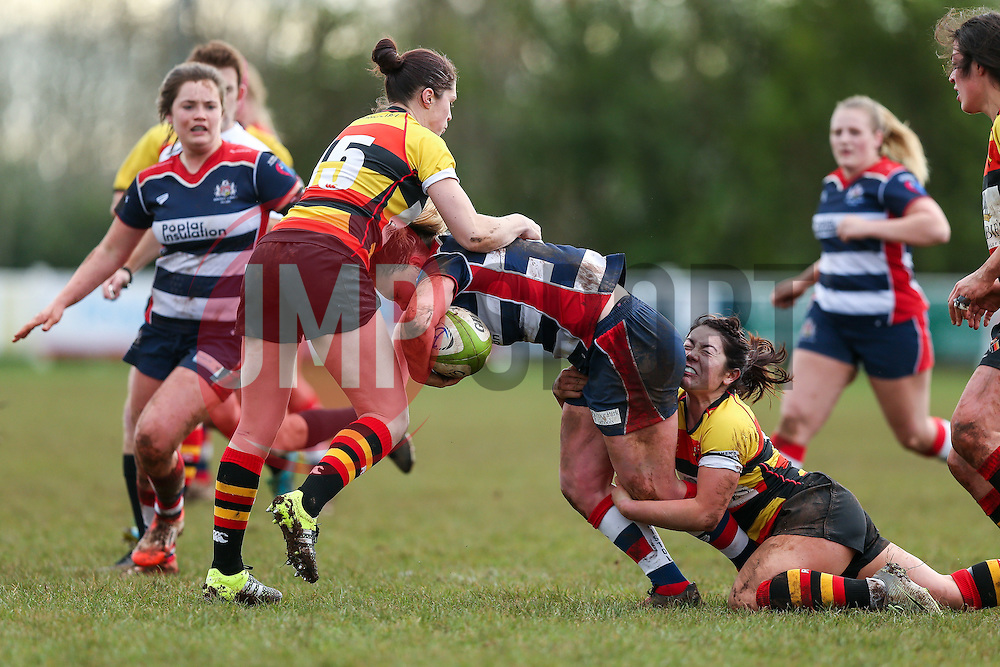 Izzy Noel Smith of Bristol Ladies in action - Rogan Thomson/JMP - 15/01/2017 - RUGBY UNION - Cleve RFC - Bristol, England - Bristol Ladies Rugby v Richmond WRFC - RFU Women's Premiership.