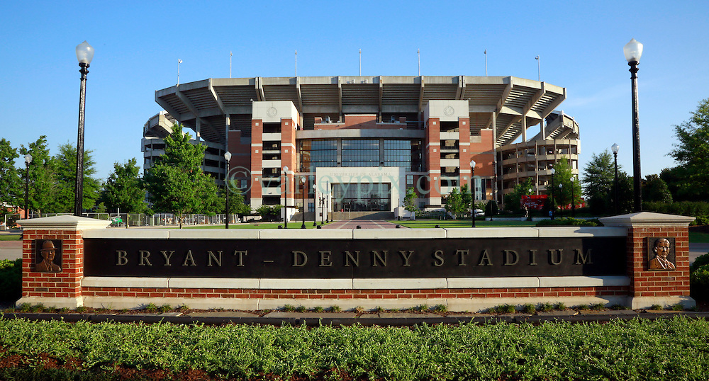 19 June 2013. University of Alabama, Tuscaloosa, Alabama.<br /> The Bryant-Denny Stadium, home to the Crimson Tide, The University of Alabama's Championship SEC championship winning team.  <br /> Photo; Charlie Varley
